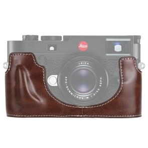 1/4 inch draad PU lederen camera half Case Base voor Leica M10 (koffie)