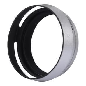 49mm metalen geventileerde zonnekap voor Fujifilm X100 (zilver)