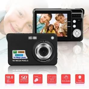 2.7 inch 18 Megapixel 8X Zoom HD Digital Camera Card-type Automatic Camera for Children, with SD Card Slot (Black)