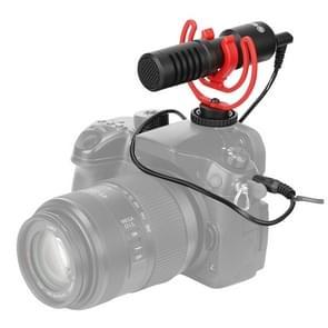 BOYA BY-MM1+ Cardioid Condenser Microfoon met voorruit voor smartphones  DSLR camera's en videocamera's