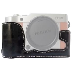 1/4 inch Thread PU Leather Camera Half Case Base for FUJIFILM X-A5 / X-A20(Black)