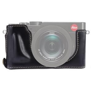1/4 inch Thread PU Leather Camera Half Case Base for Leica DLUX TYP 109 (Black)