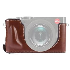 1/4 inch Thread PU Leather Camera Half Case Base for Leica DLUX TYP 109 (Coffee)