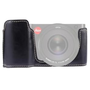 1/4 inch Thread PU Leather Camera Half Case Base for Leica TL (Typ 701) (Black)