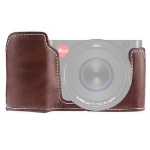 1/4 inch draad PU lederen camera half Case Base voor Leica TL (Typ 701) (koffie)