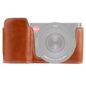 1/4 inch draad PU lederen camera half Case Base voor Leica TL (type 701) (bruin)