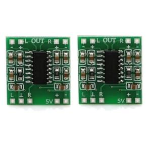 2 stuks LandaTianrui LDTR-WG0127 DC 5V D-niveau Mini digitale versterker Board (groen)