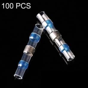 100 pc's AWG16-14 1 5-2 5 mm zegel Heat Shrink Butt draad aansluitingen blauw Terminals soldeer Sleeve(Blue)