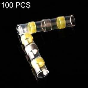 100 pc's AWG12-10 4-6mm zegel Heat Shrink Butt draad aansluitingen gele Terminals soldeer Sleeve(Yellow)