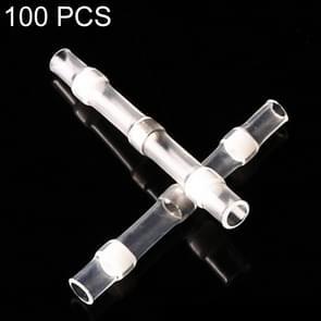 100 stuks AWG26-24 0 25-0.34 mm zegel Heat Shrink Butt draad aansluitingen witte Terminals soldeer Sleeve(White)