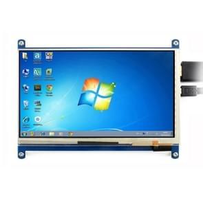 Scherm van de aanraking van de WAVESHARE 7 Inch HDMI LCD (C) 1024 x 600 voor Raspberry Pi met Bicolor geval