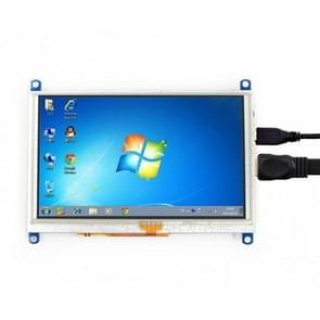 WAVESHARE 5 Inch HDMI LCD (G) 800 x 480 touchscreen voor Raspberry Pi ondersteunt verschillende systemen