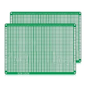 2 PCS LandaTianrui LDTR - WG032 / D4 Double-sided Glass Fibre Breadboard PCB Prototype Board, Size: 9 x 15cm