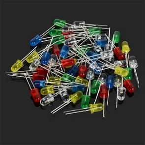 130PCS 5MM RGB 3-color LED Diodes Light-emitting DIY elektronische componenten