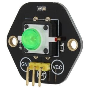 LandaTianrui LDTR-RM012 Button Switch Module with Green LED Indicator Light for Arduino UNO / MEGA / Raspberry Pi / AVR / STM32(Black)