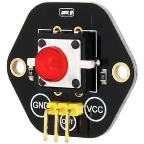 LandaTianrui LDTR-RM012 Digital Push Button with Red LED Indicator Light Module for Arduino UNO / MEGA / Raspberry Pi / AVR / STM32(Black)