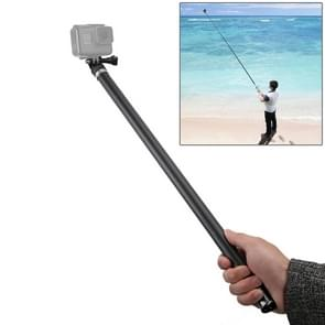 Super-long Extendable Carbon Fiber Waterproof Self-portrait Handheld Telescopic Monopod Self Stick for DJI Osmo Action, GoPro, Xiaoyi and Other Action Cameras, Max Length: About 2.7m