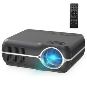 DH-A10B 5.8 inch LCD Screen 4200 Lumens 1280 x 800P HD Smart Projector with Remote Control, Support HDMIx2, USBx2, VGA, AV IN/RCA, RJ45(Black)