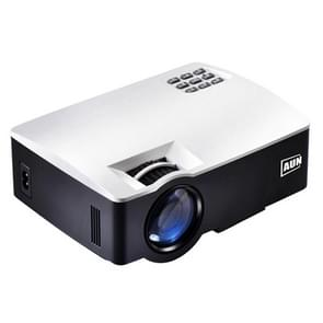 AUN AKEY1 Plus 1800 Lumens LED 800x480 Android 6.0.1 Multimedia Video Projector Home Theater, Amlogic S905X Quad-Core Cortex-A53 up to 1.5GHz, 1GB+8GB, USB / SD / VGA / AV / HDMI (White)