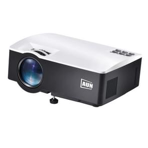 AUN AKEY1X Sync Screen 1800 Lumens LED 800x480 Multimedia Video Projector Home Theater, USB / SD / VGA / AV / HDMI, Compatible with iOS and Android(White)