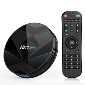 HK1MINI+ 4K HD Smart TV BOX,Android 9.0,RK3318 Quad-Core 64bit Cortex-A53 ,4GB+128GB, Support TF Card, HDMI, WIFI, AV, LAN, USB(Black)