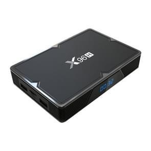 X96H 6K HD Smart TV BOX,Android 9.0,H603 Quad Core 64-bit ARM Cortex-A53,4GB+32GB, Support TF Card, HDMI, WIFI, AV, RJ45, USBx3 (Black)