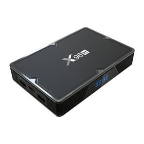 X96H 6K HD Smart TV BOX,Android 9.0,H603 Quad Core 64-bit ARM Cortex-A53,4GB+64GB, Support TF Card, HDMI, WIFI, AV, RJ45, USBx3 (Black)