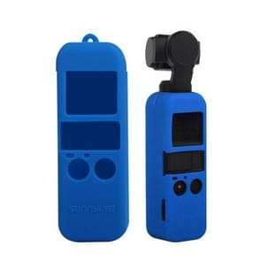 Non-slip Dust-proof Cover Silicone Sleeve for DJI OSMO Pocket(Blue)