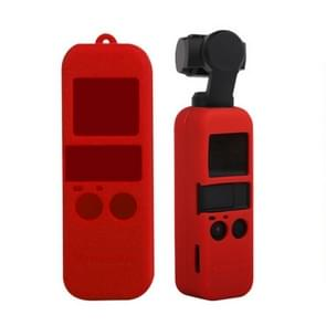 Non-slip Dust-proof Cover Silicone Sleeve for DJI OSMO Pocket(Red)