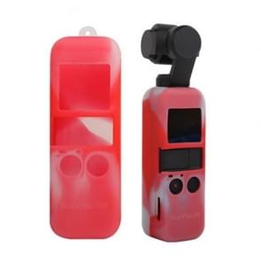 Non-slip Dust-proof Cover Silicone Sleeve for DJI OSMO Pocket(Red + White)