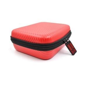 STARTRC Carbon Texture Waterproof PU Storage Bag voor DJI OSMO Pocket Gimble Camera(Rood)