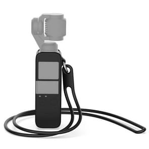 Body Silicone Cover Case met 38cm silicone nekband voor DJI OSMO Pocket (zwart)