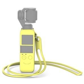 Body Siliconen Cover Case met 38cm Siliconen halsband voor DJI OSMO Pocket (lichtgeel)