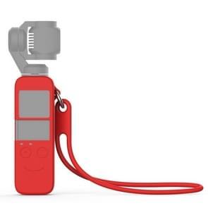 Body Siliconen Cover Case met 19cm siliconen polsbandje voor DJI OSMO Pocket (Rood)