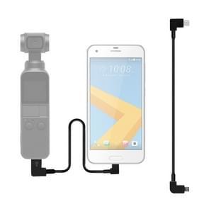 Sunnylife 30cm USB-C/type-C naar micro USB converterende connector data kabel voor DJI OSMO Pocket (zwart)