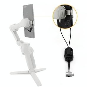 STARTRC Telefoonhouder Clip Anti-lost Rope Strap Anti-drop voor DJI OM4 / Osmo Mobile 3 (Zwart)