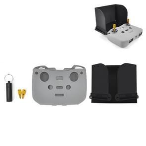 STARTRC Voor DJI Mavic Air 2 3 In 1 AFstandsbediening Zonnescherm Meten metalen joystick siliconen beschermhoes set (Grijs)