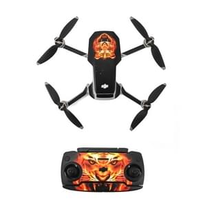 STARTRC Color Pattern Waterproof PVC Stickers Drone & Controller & Battery voor DJI Mavic Mini (Tiger Head Flame)
