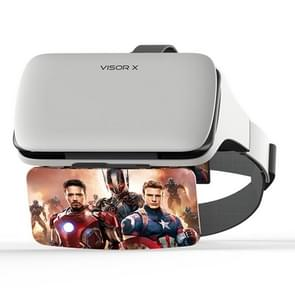 Visor X Phone Screen Magnifier Head-mounted HD Projector Enlarged Amplifier Movie Gaming Device Safe Distance for Eye Protection (White)