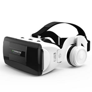 VR SHINECON G06EB Virtual Reality 3D Video Glasses Suitable for 4.7 inch - 6.1 inch Smartphone with HiFi Headset (White)