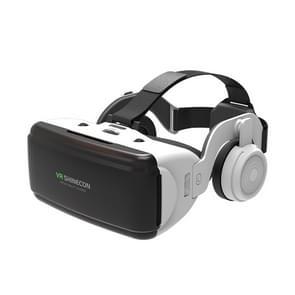 VR SHINECON G06E Virtual Reality 3D-videobril geschikt voor 4 7 inch - 6 1 inch smartphone met headset (wit)