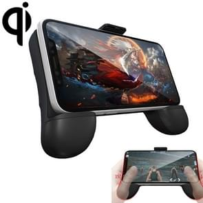 RK GAME 7th 1500mAh Power Bank + Wireless Charger ABS Stand Gamepad Game Controller for 2.4-3.5 inch Android & iOS Phone (Black)
