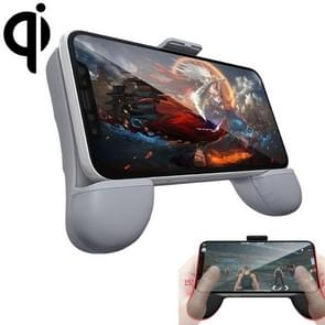 RK GAME 7th 1500mAh Power Bank + Wireless Charger ABS Stand Gamepad Game Controller for 2.4-3.5 inch Android & iOS Phone (Grey)