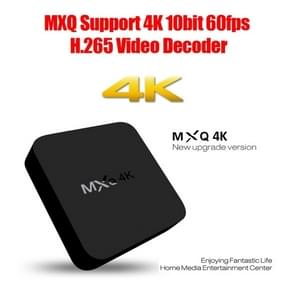 MXQ 4K Full HD Media Player RK3229 Quad Core KODI Android 4.4 TV Box with Remote Control, RAM: 1GB, ROM: 8GB, Support HDMI, WiFi, Miracast, DLNA(Black)