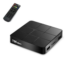 T96 Mars 4K HD Smart TV Box with Remote Controller, Android 7.1.2, S905W Quad-Core 64-Bits ARM Cortex-A53, 1GB+8GB, Support TF Card, HDMI, LAN, AV, WiFi(Black)