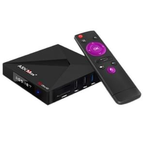 A5X Max+ 4K Ultra HD Smart TV BOX with Remote Controller, Android 7.1, RK3328 Quad-Core 64bit Cortex-A53, 4GB+32GB, Support SD Card, HDMI, LAN, AV, WiFi, Bluetooth