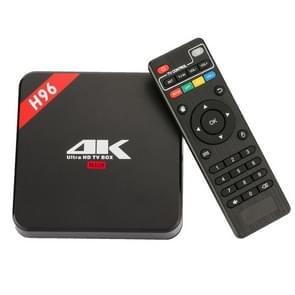 H96 4K Full HD Media Player RK3229 Quad Core KODI Android 6.0 TV Box with Remote Control, RAM: 1GB, ROM: 8GB, Support HDMI, WiFi, Miracast, DLNA (Black)