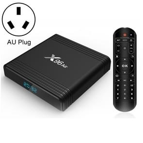 X96 Air 4K Smart TV BOX Android 9,0 media speler met afstandsbediening, Quad-Core Amlogic S905X3, RAM: 4GB, ROM: 32GB, dual band WiFi, Bluetooth, AU plug