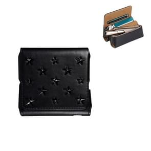 Pentagram Electronic Cigarette Leather Storage Bag for IQOS 3.0 (Black)