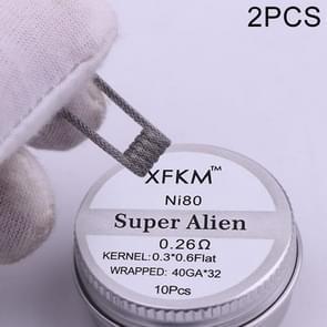 2 Boxes XFKM NI80 Super Alien Prebuilt Coils Electronic Cigarette RDA RTA RBA Atomizer Heating Wire